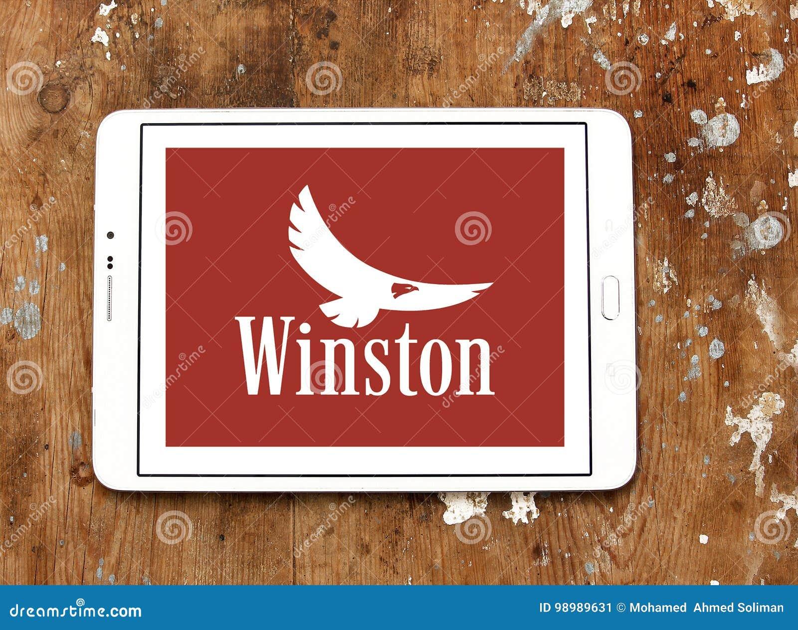 Het bedrijfembleem van Winstonsigaretten