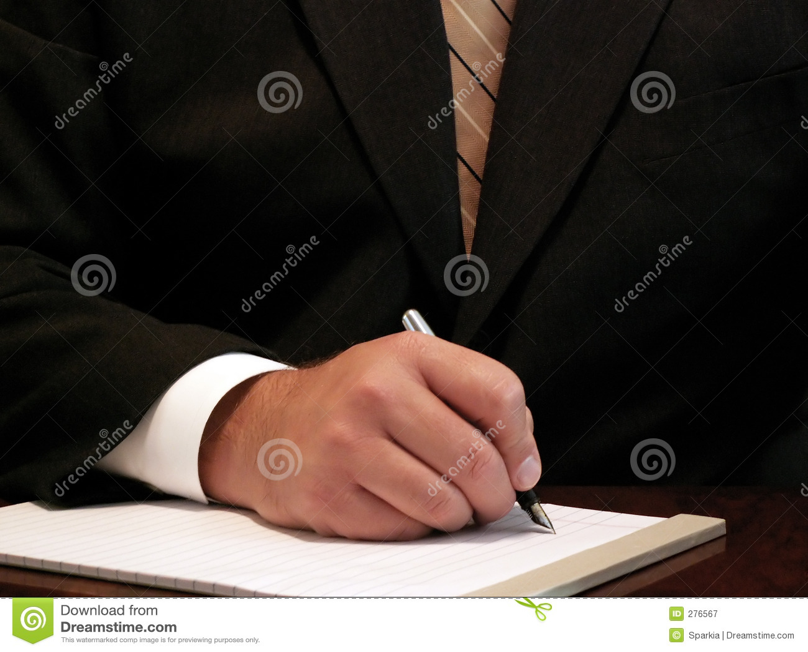 Het bedrijfs mens schrijven