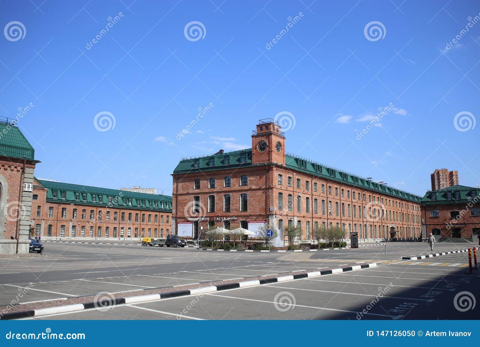 Het bedrijfsdiekwart Novospassky, in de vernieuwde gebouwen van de vroegere fabriek wordt gevestigd