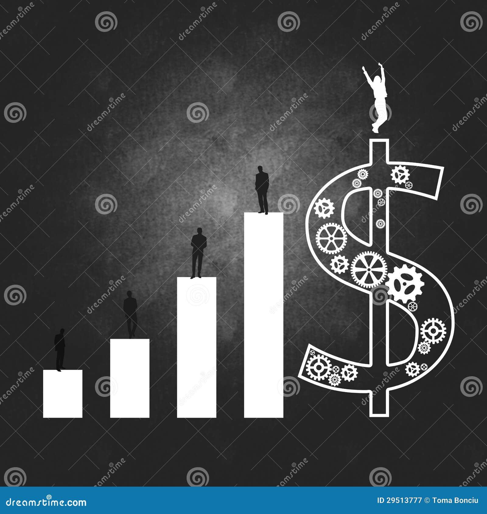 Het bedrijfssucces van de bedrijfseconomie en