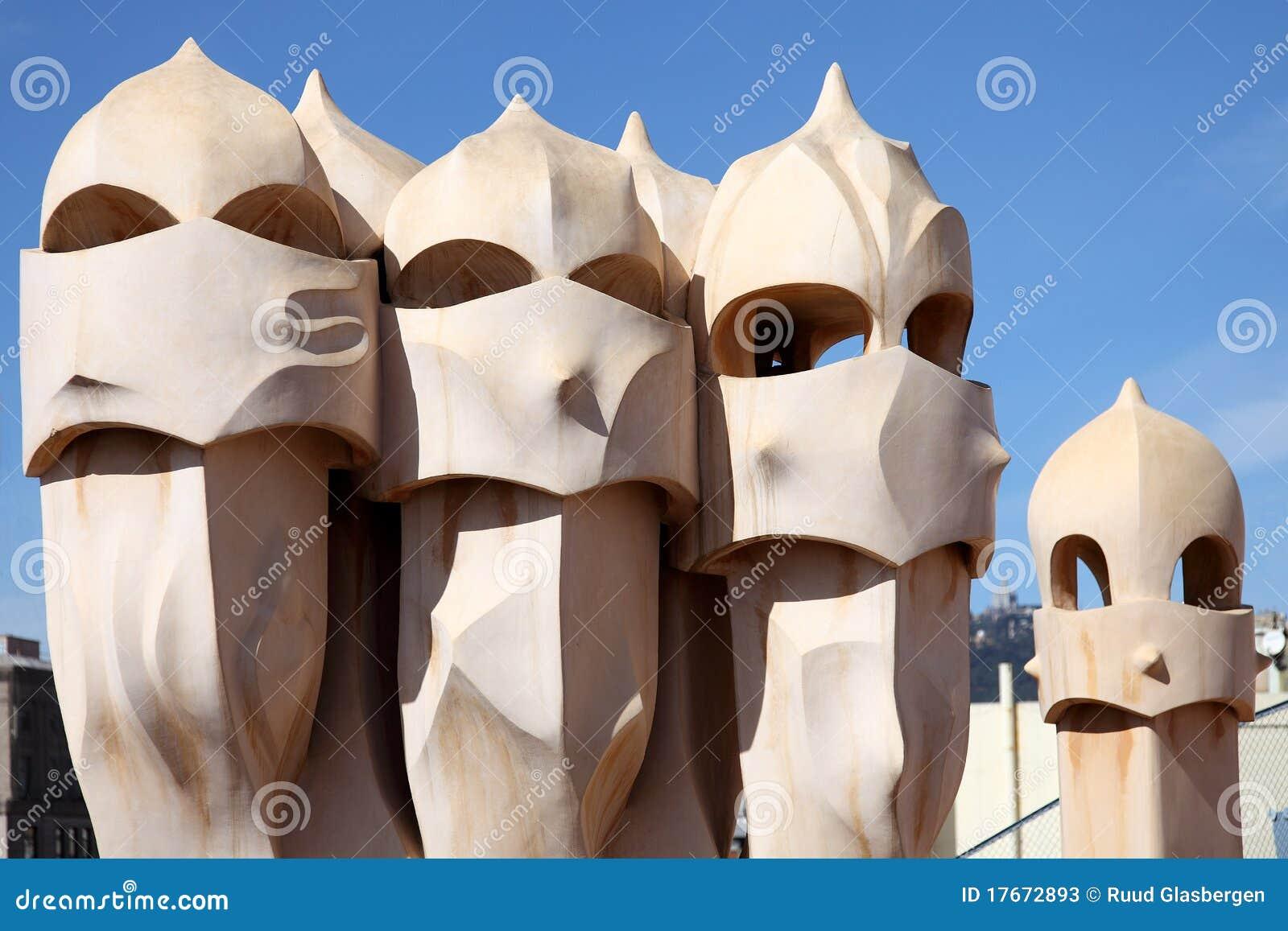 Het beeldhouwwerk van Gaudi