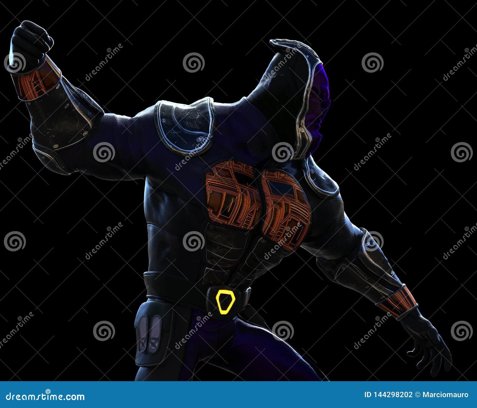 Het beeldverhaal van Cyberninja