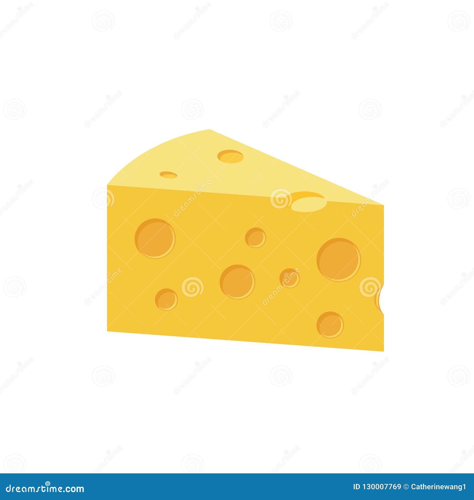 Het Beeldverhaalillustratie van de kaas Vlakke Kleur