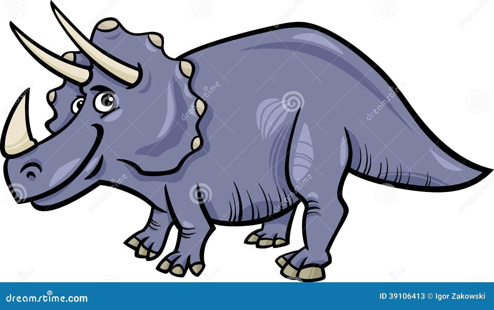 Het beeldverhaalillustratie van de Triceratopsdinosaurus