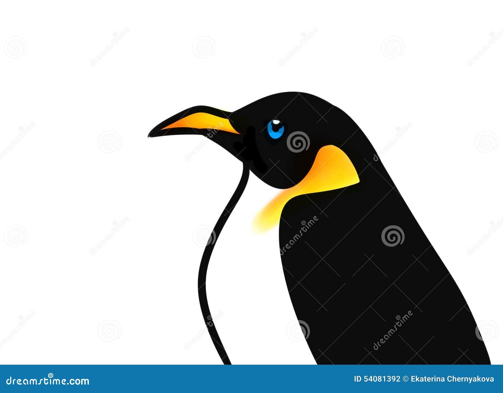 Het beeldverhaalillustratie van de vogelpinguïn