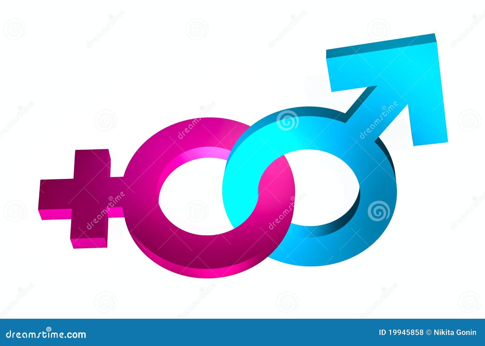 Aziatische geslachts symbolen