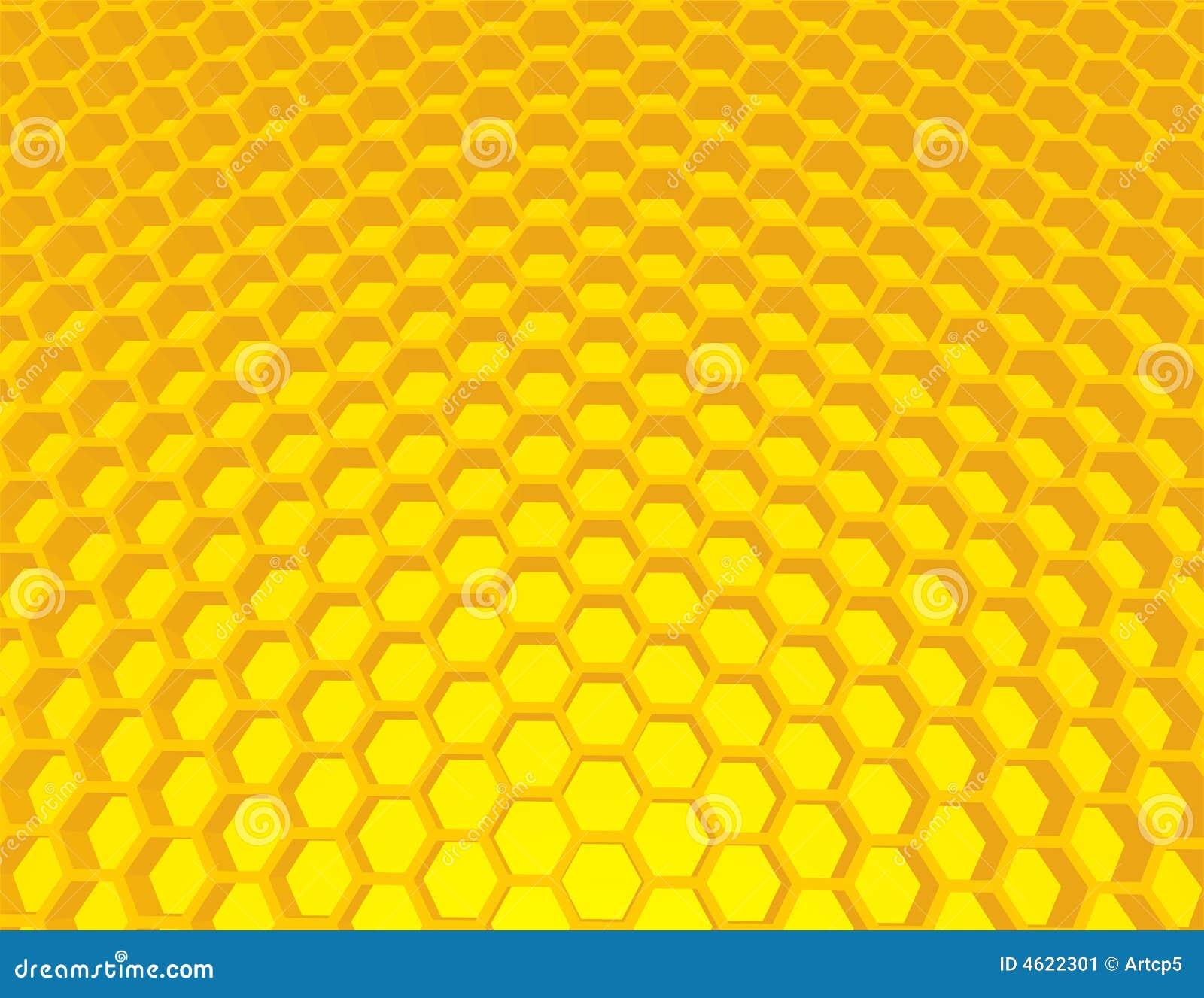 het behang van de bijenkorf achtergrond 4622301 - Honingraat Behang