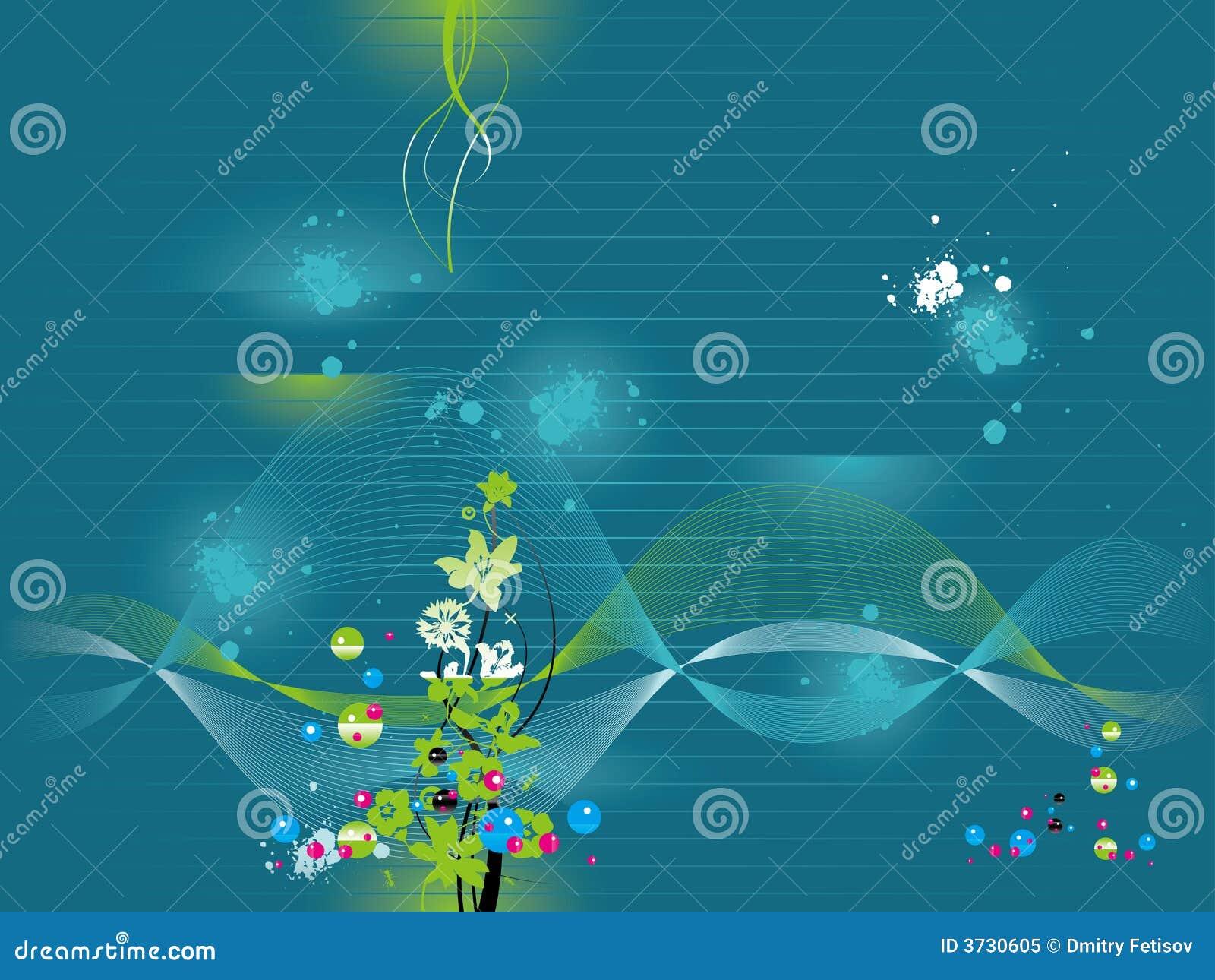 Het behang van het water vector illustratie afbeelding bestaande uit beeld 3730605 - Groen behang van het water ...