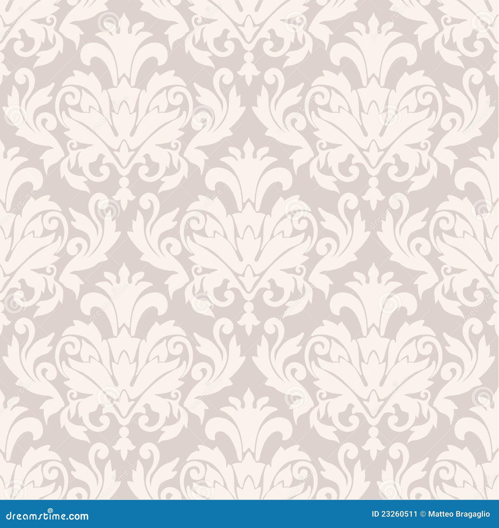 Het Behangpatroon Van Het Damast Stock Afbeelding - Afbeelding ...