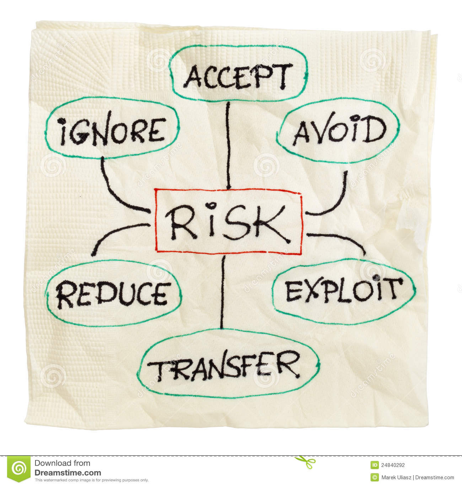 Het beheersstrategie van het risico
