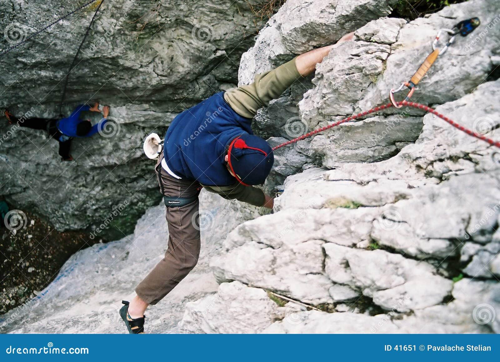 Het beklimmen op Poiana Stanii - Sinaia - Roemenië