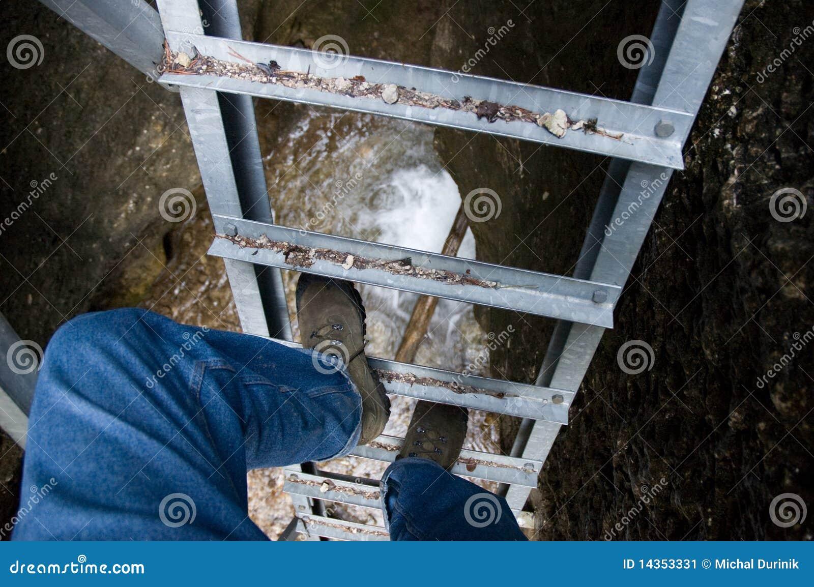 Het beklimmen van de ladder
