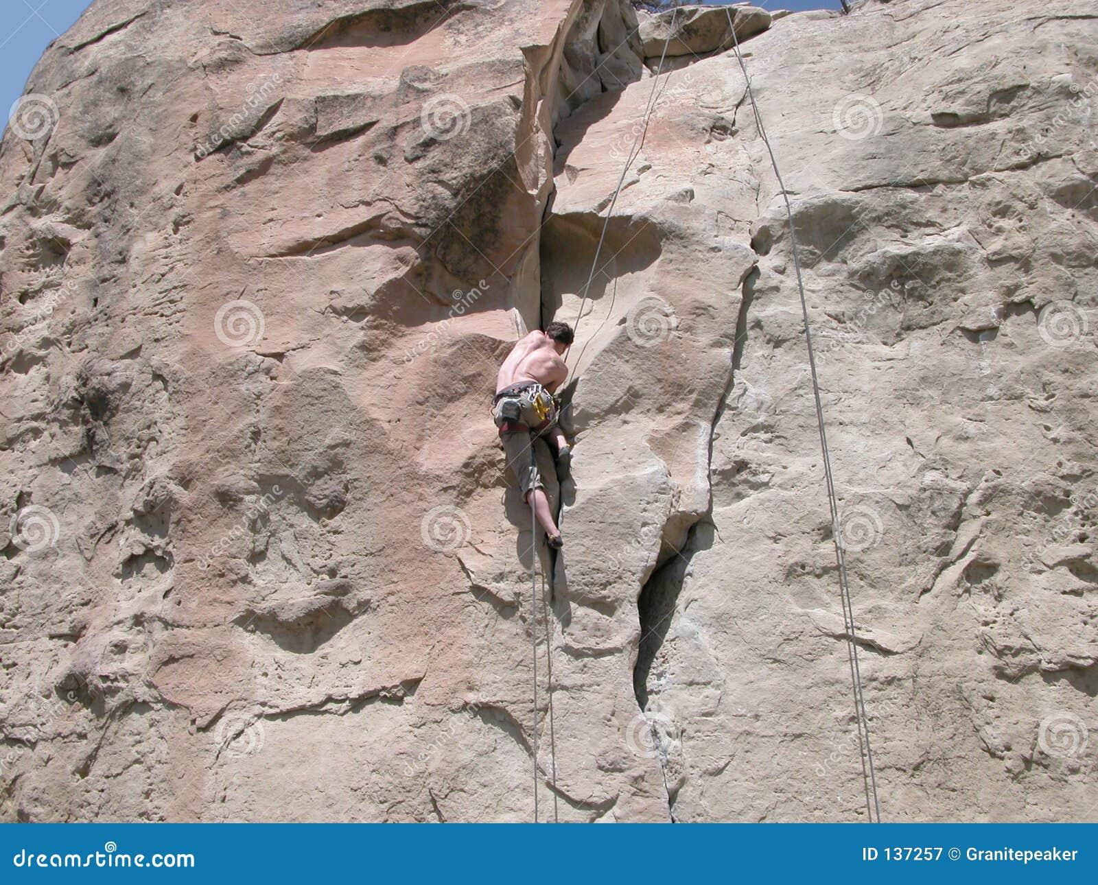 Het beklimmen van de Muur van de Rots