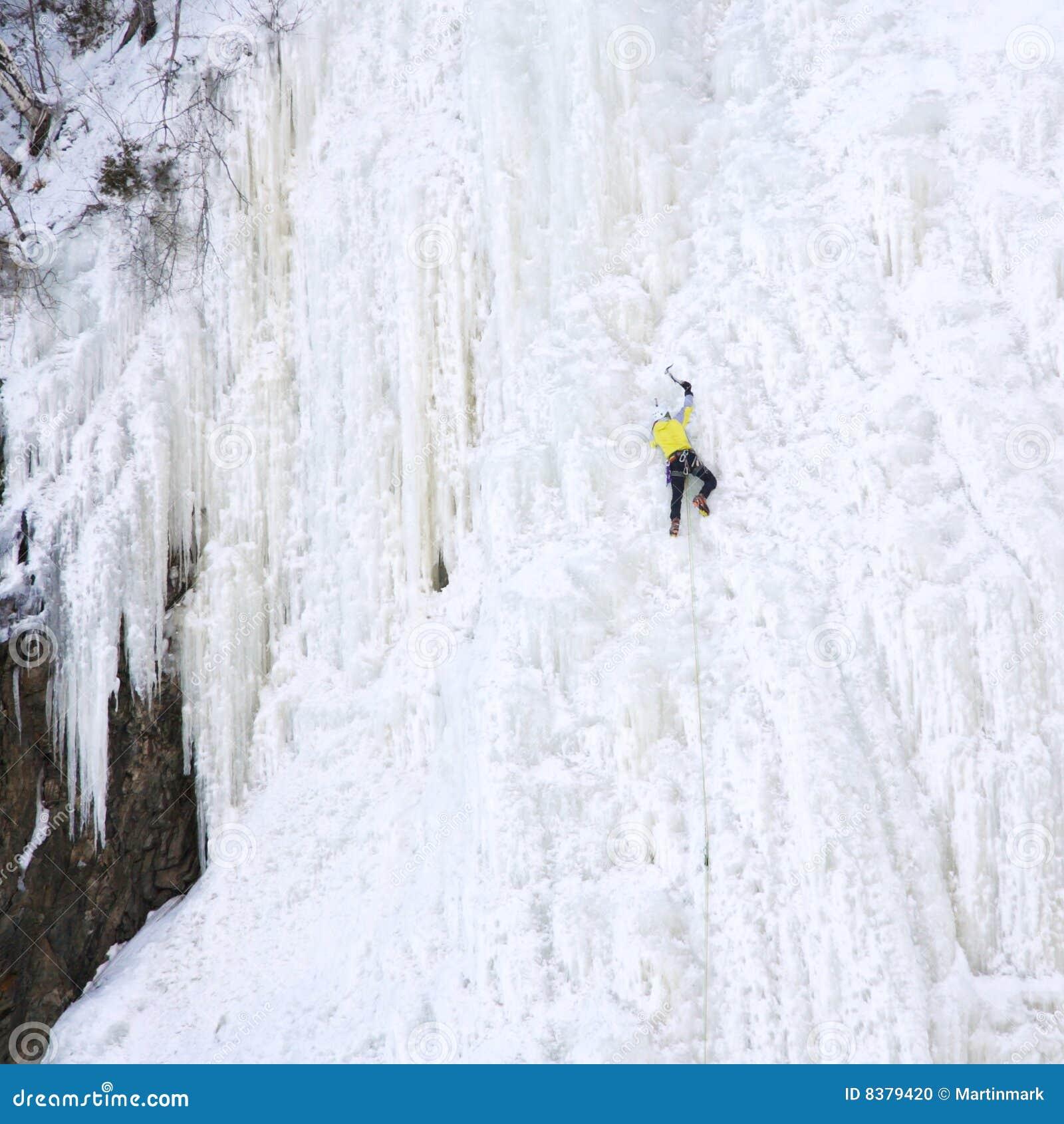 Het beklimmen van het ijs