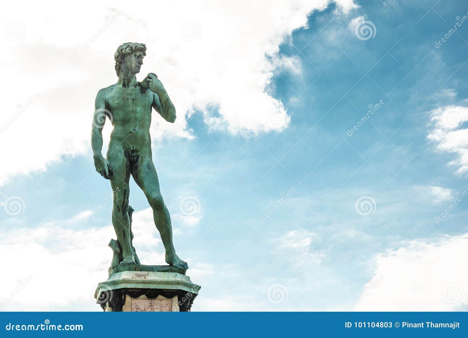 Het beroemde beeldhouwwerk van David in Florence