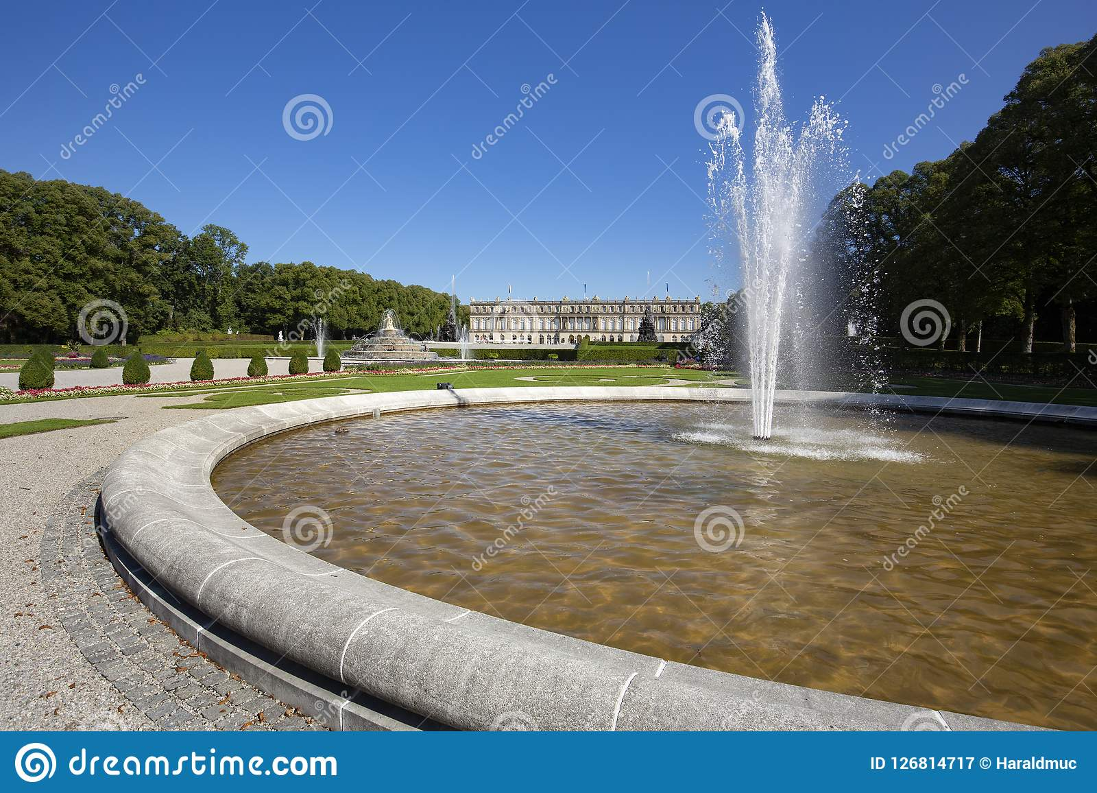 Het beroemde Herrenchiemsee-kasteel in Beieren, Duitsland Royalty-vrije Stock Fotografie