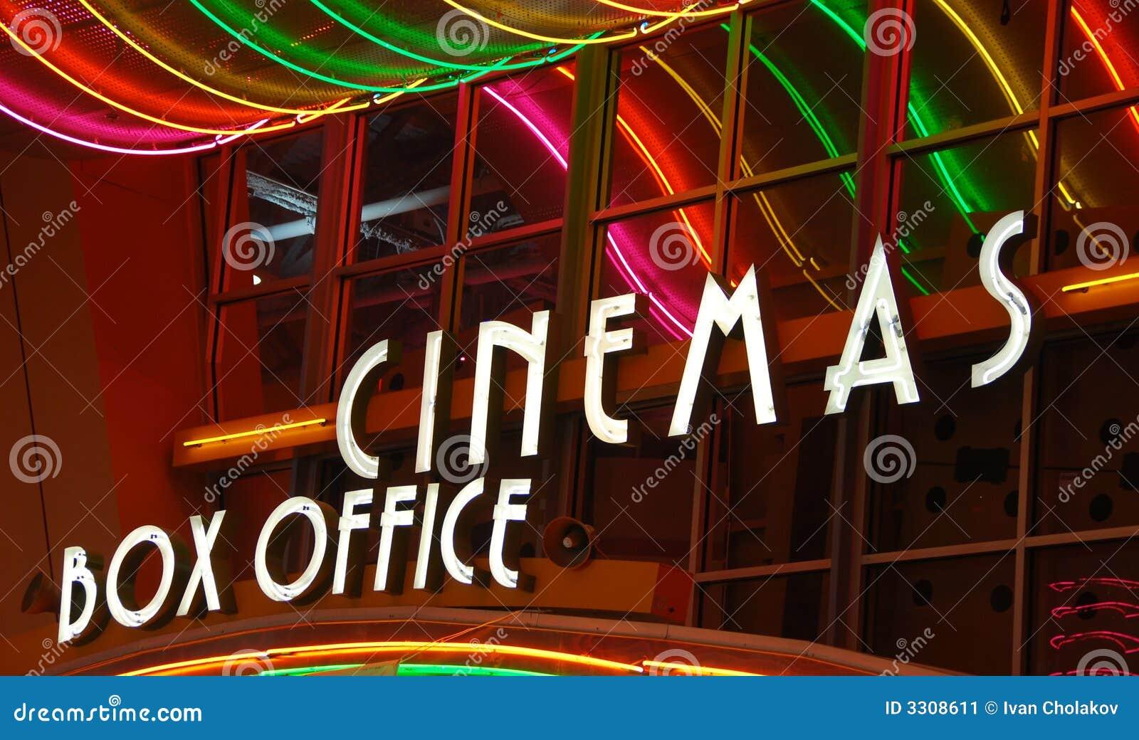 Het bespreekbureau van de bioscoop