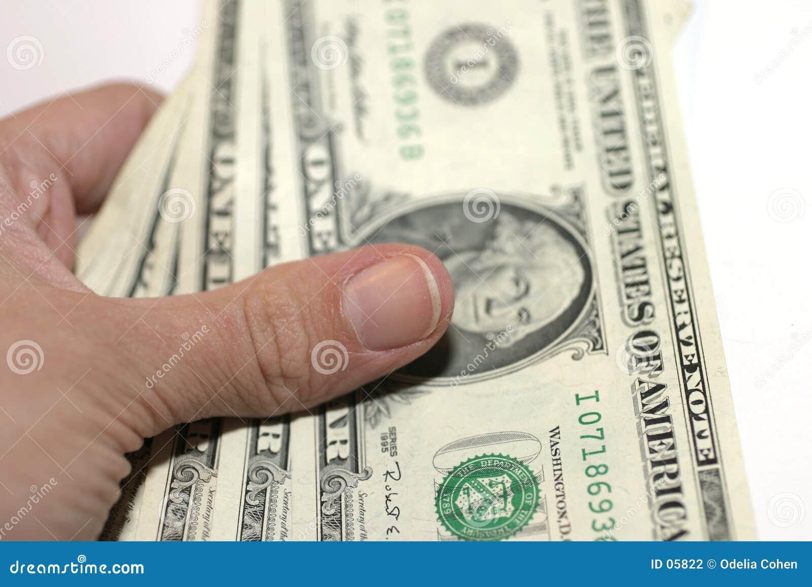 Het betalen van Contant geld