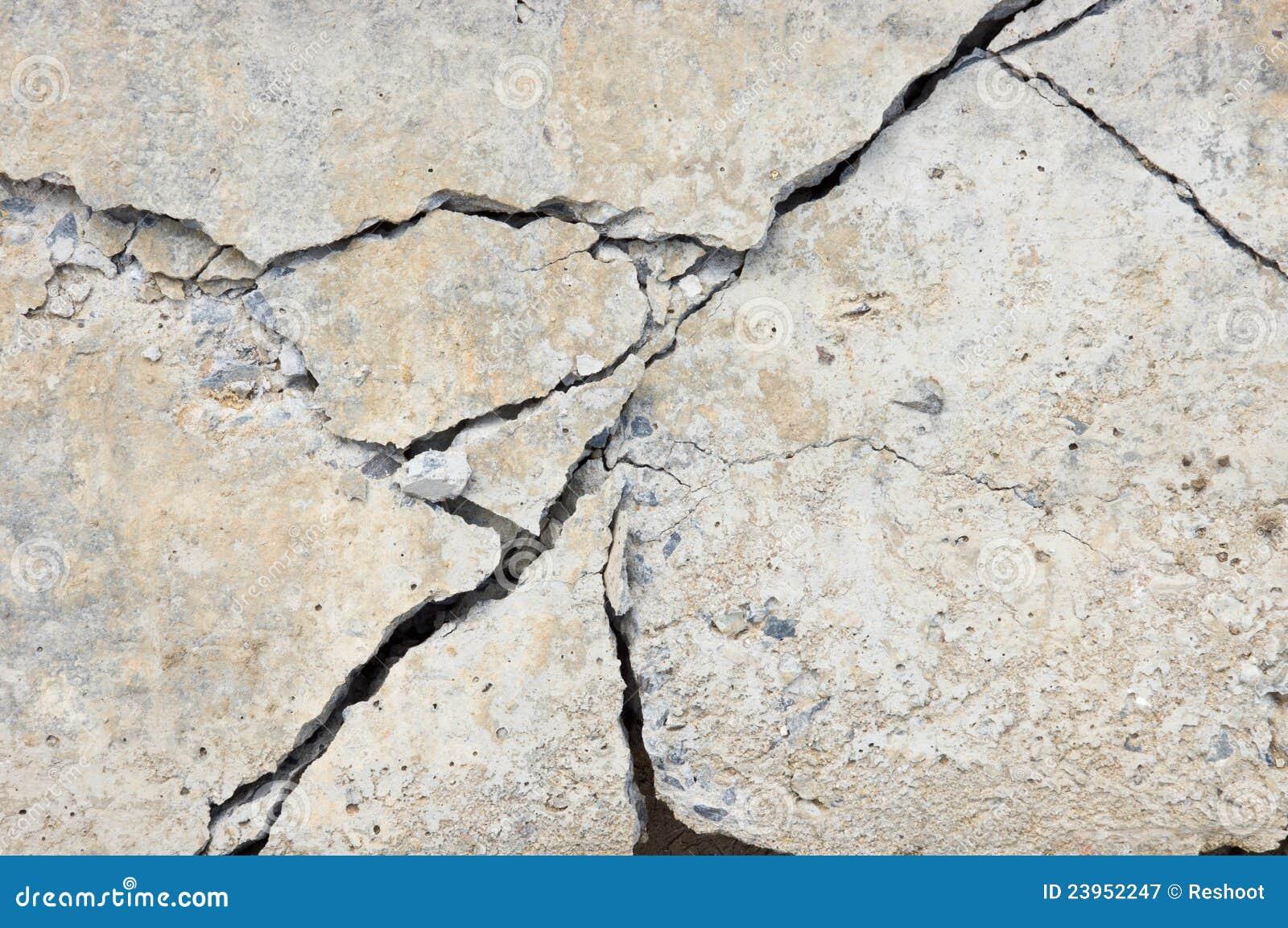 Het beton van de barst