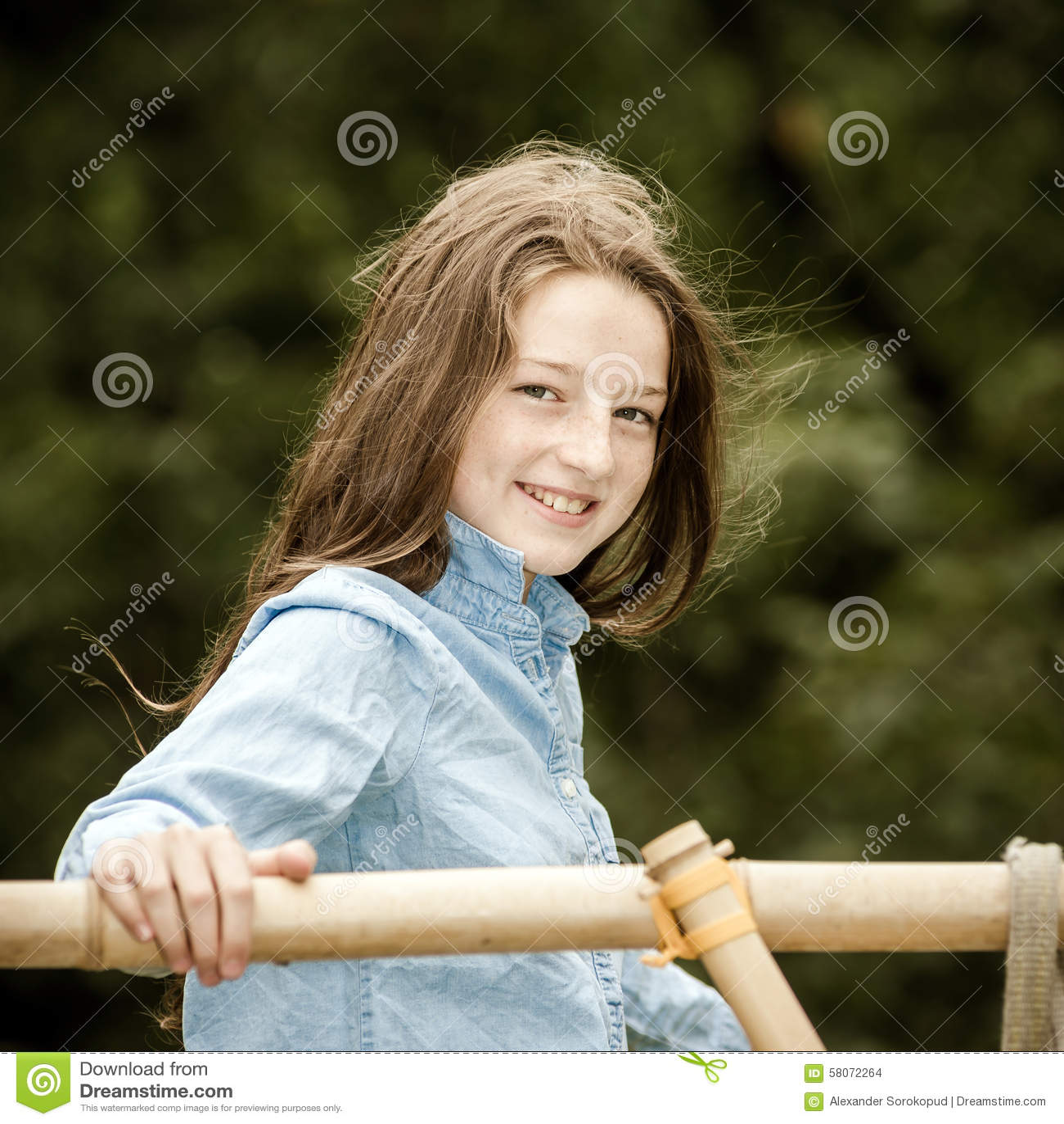 Het bewegen zich in volwassenheid Openlucht Portret van Tiener
