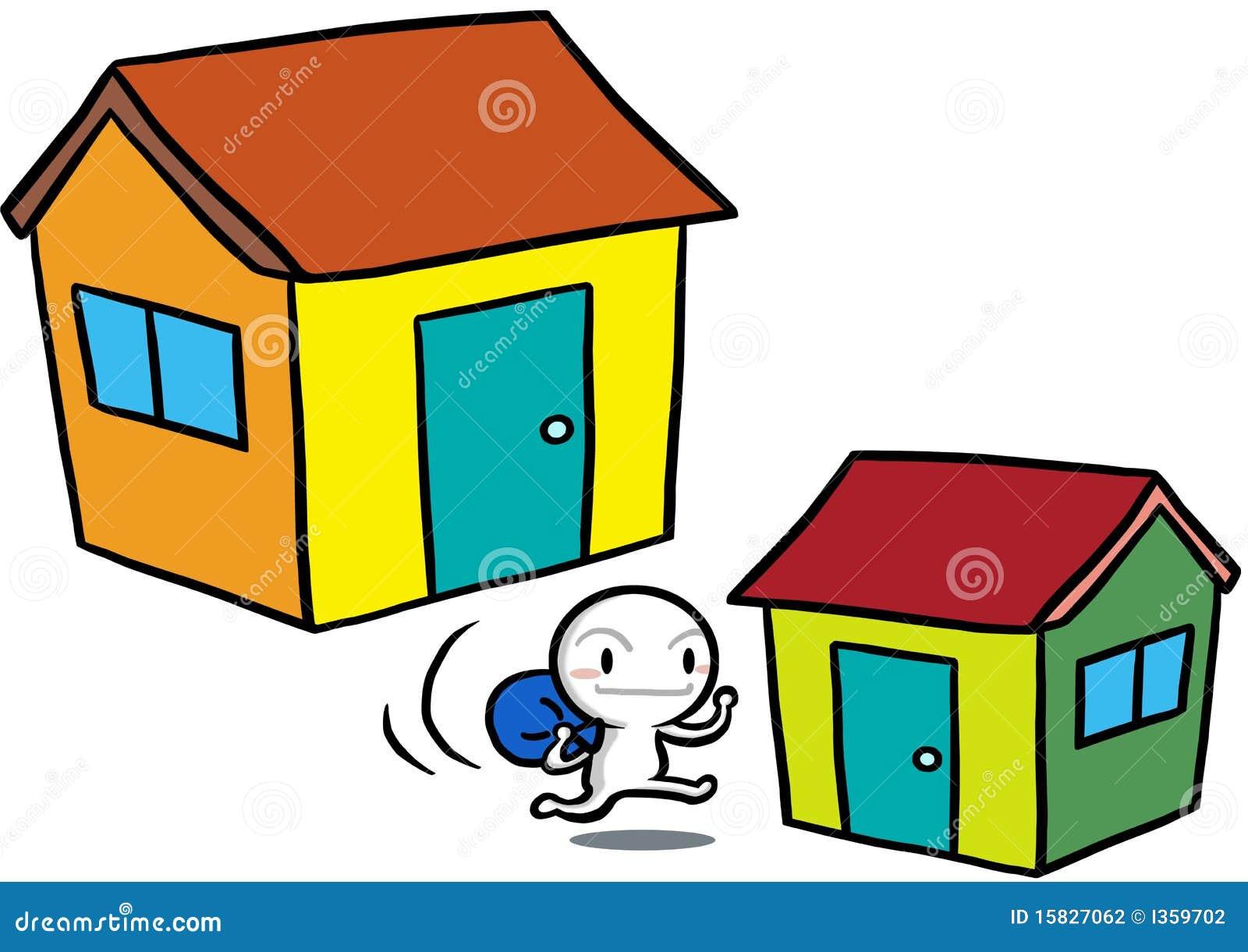 Het bewegende huis van gugu van het pictogram stock fotografie beeld 15827062 - Amenager een voorgerecht van het huis ...