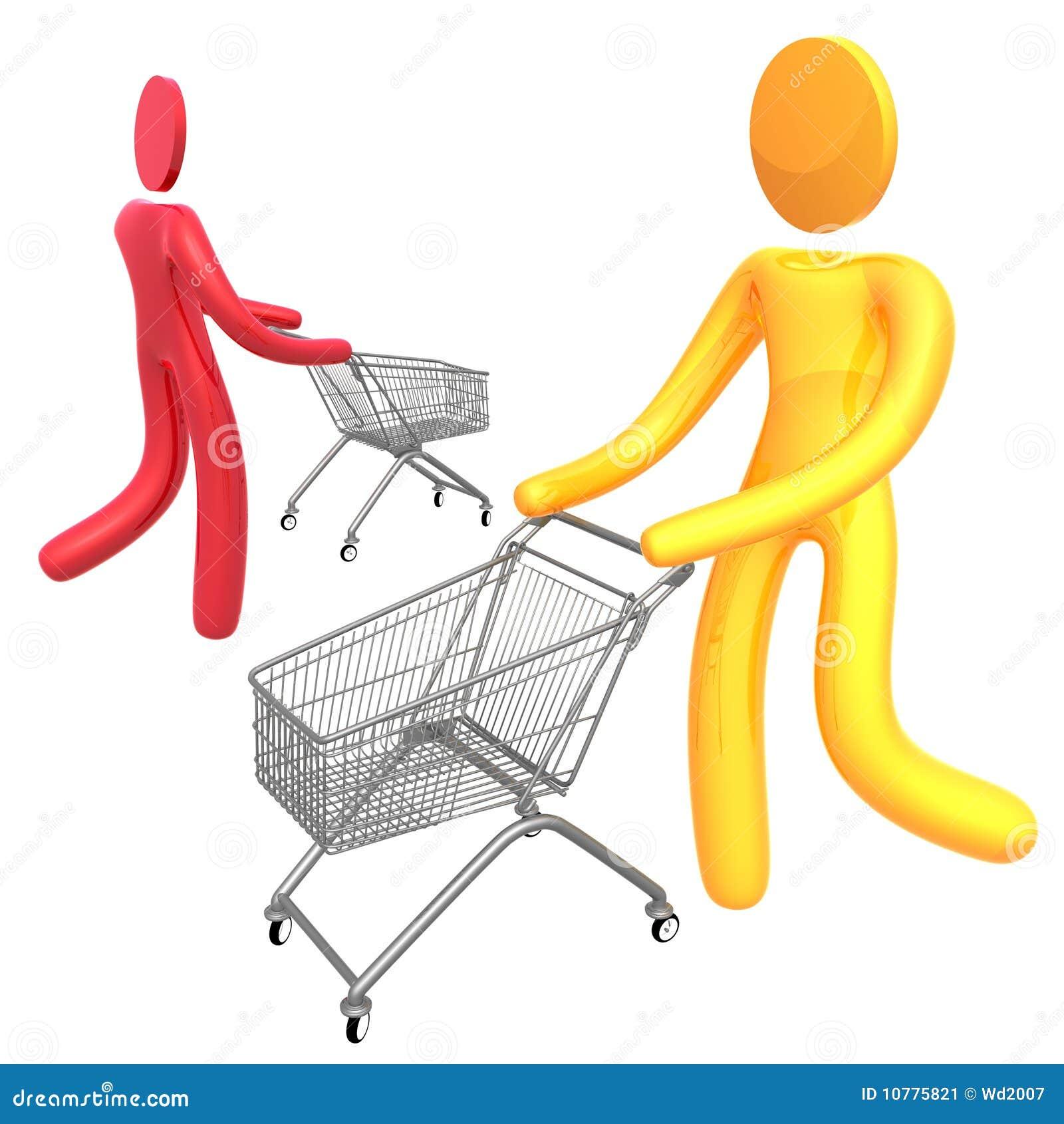 Het bezige symbool van het klantenpictogram
