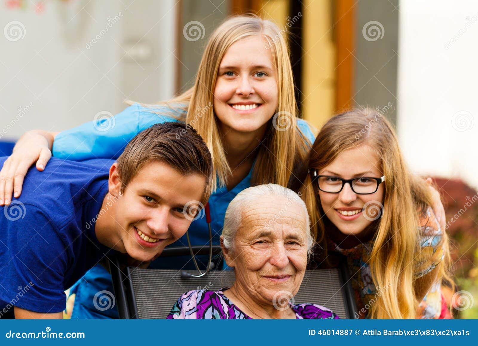 Het Bezoek van kleinkinderen