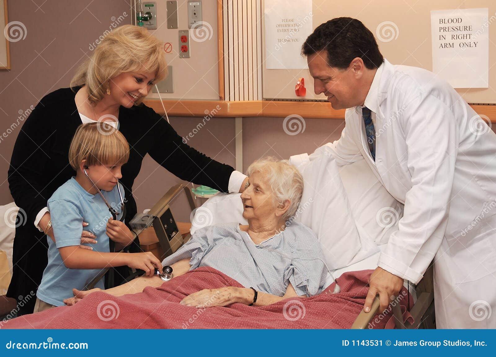 Het bezoeken verpleeghuis
