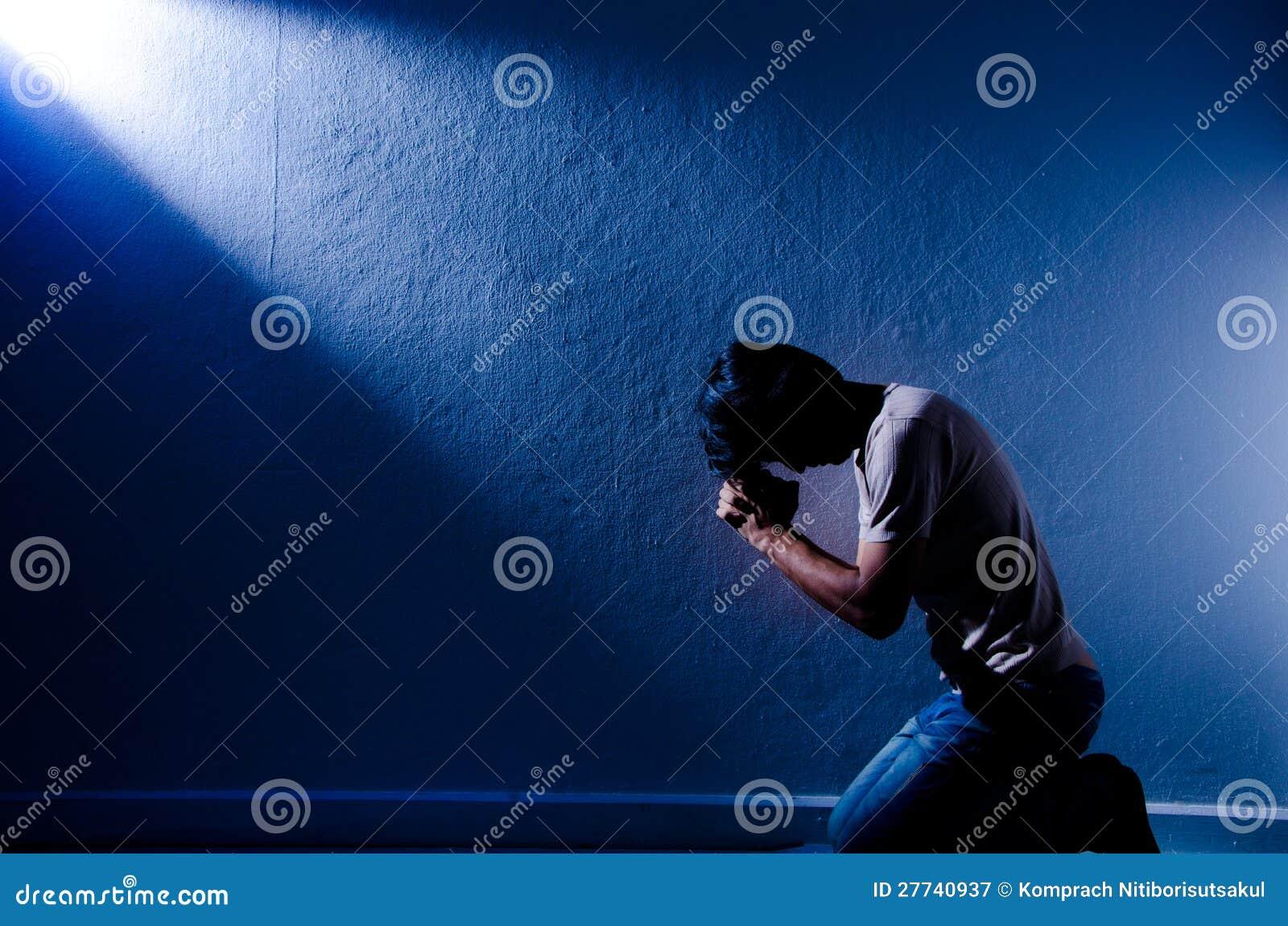 Het bidden van de mens.