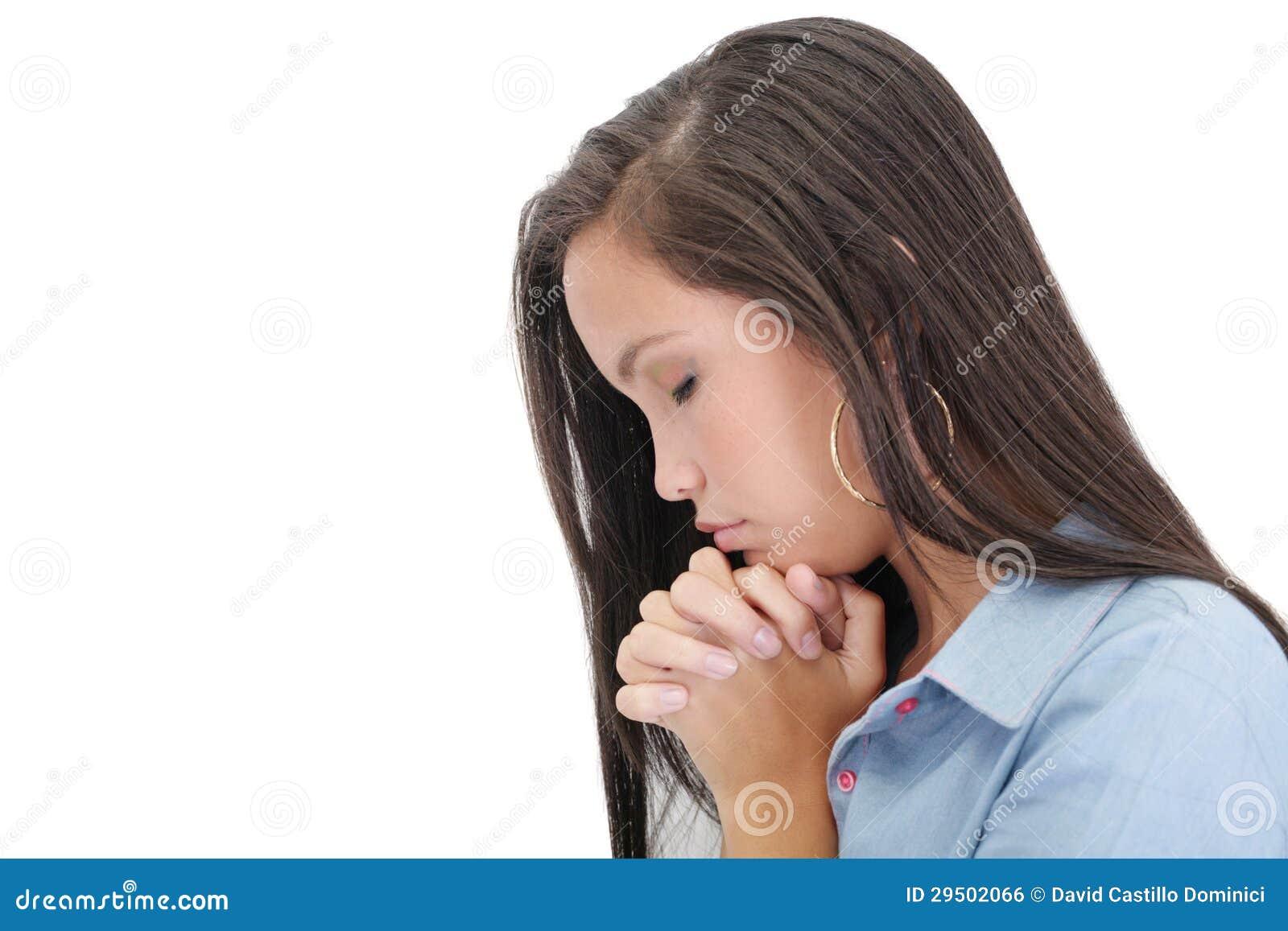 Het bidden van de vrouw