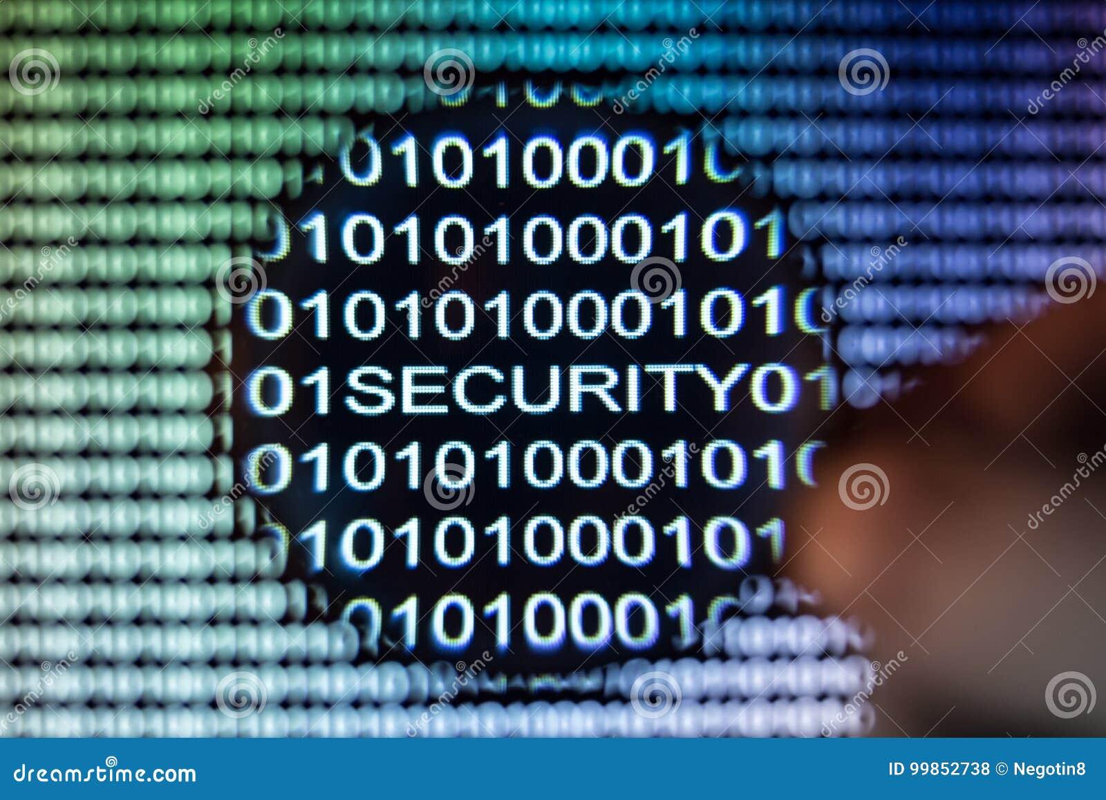 Het binaire codescherm