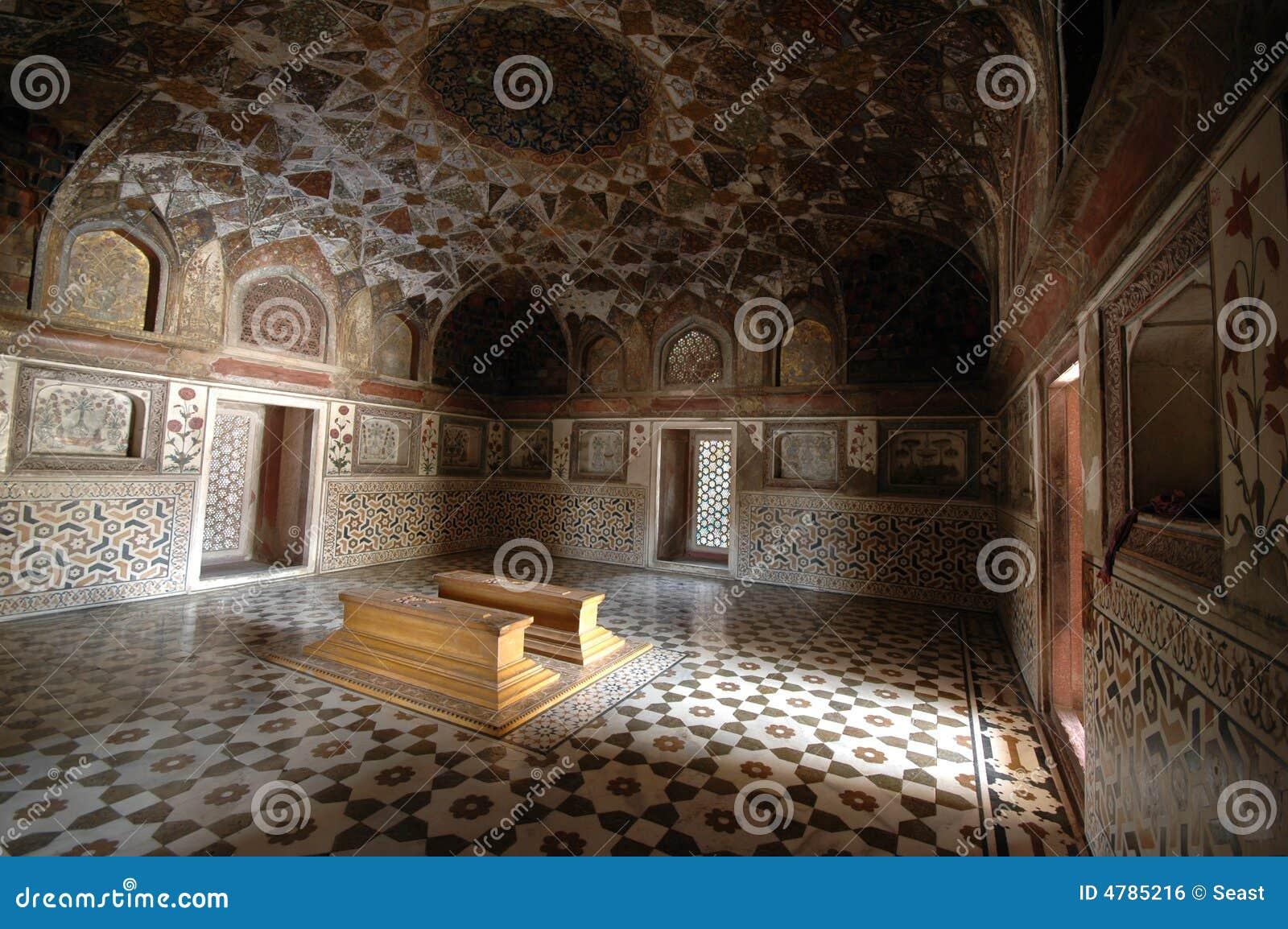Het binnen graf van Taj van de Baby