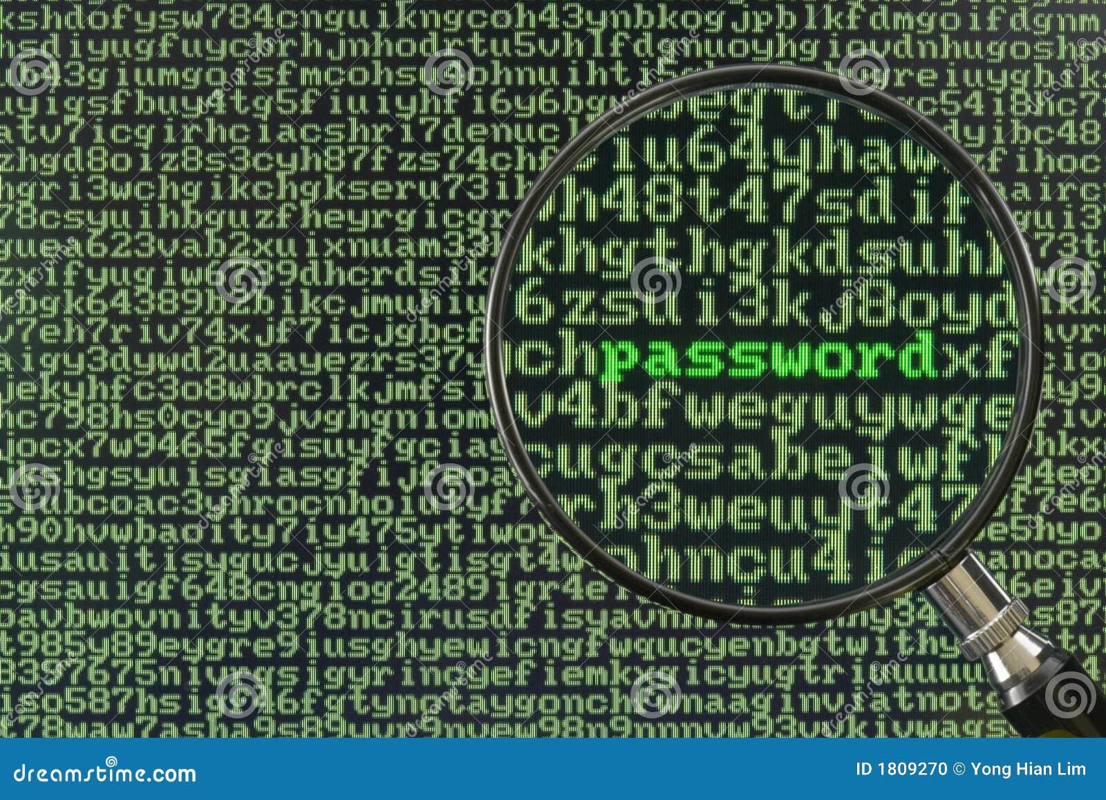 Het binnendringen in een beveiligd computersysteem voor wachtwoord