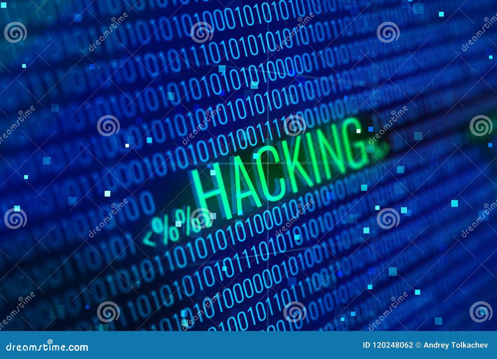 Het binnendringen in een beveiligd computersysteem woord