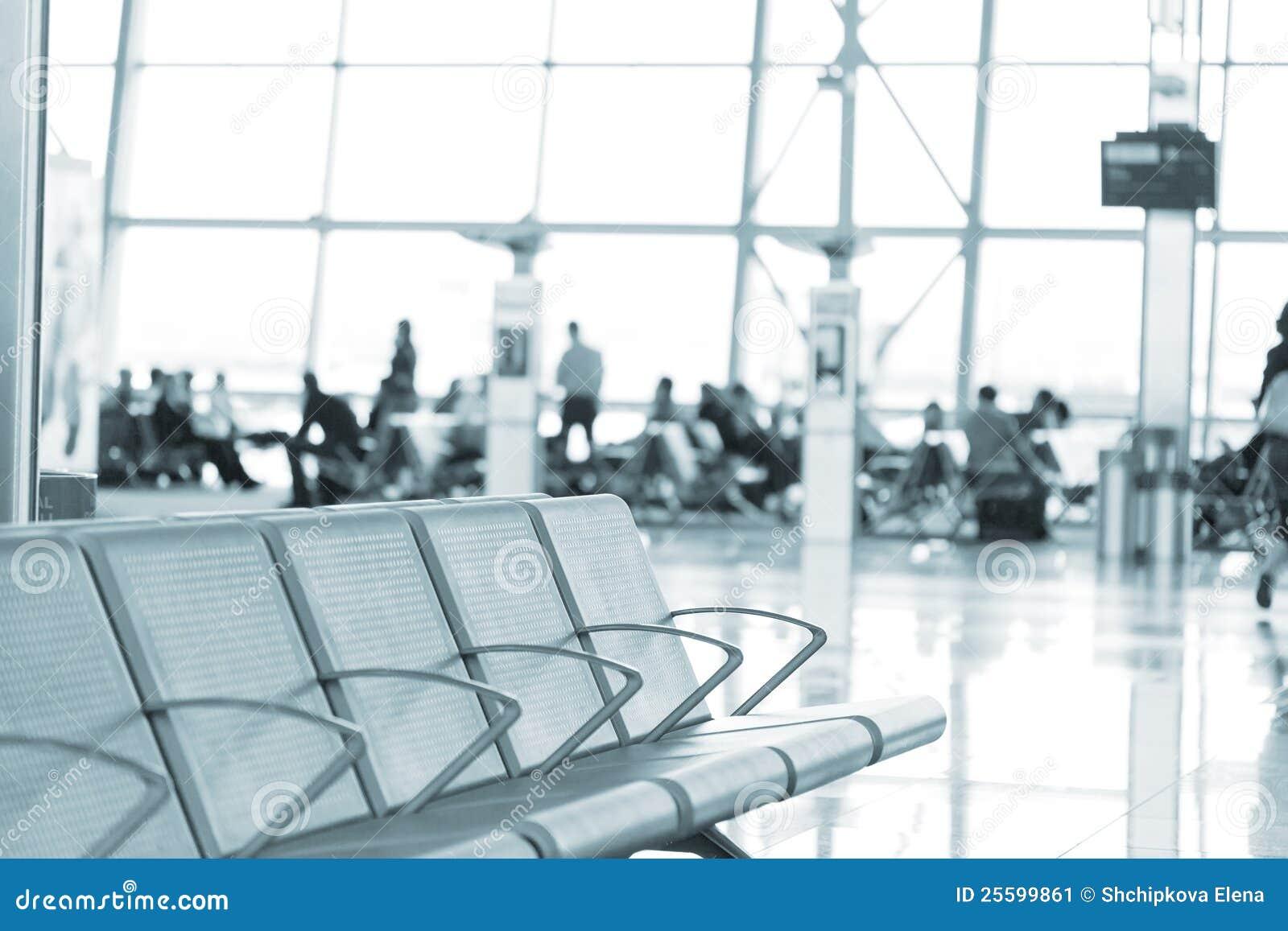 Het binnenland van de luchthaven in Brussel