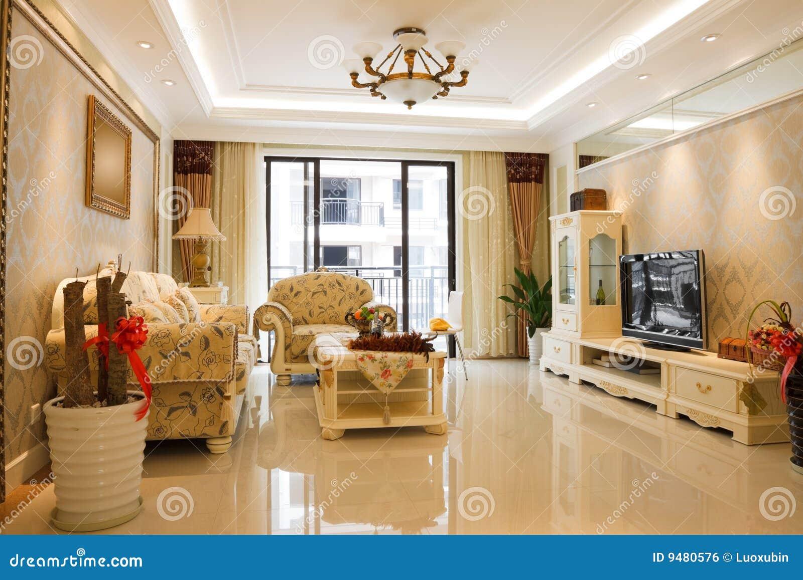 Het Binnenland Van De Luxe Dure Woonkamer Royalty vrije Stock Afbeelding   Afbeelding  9480576