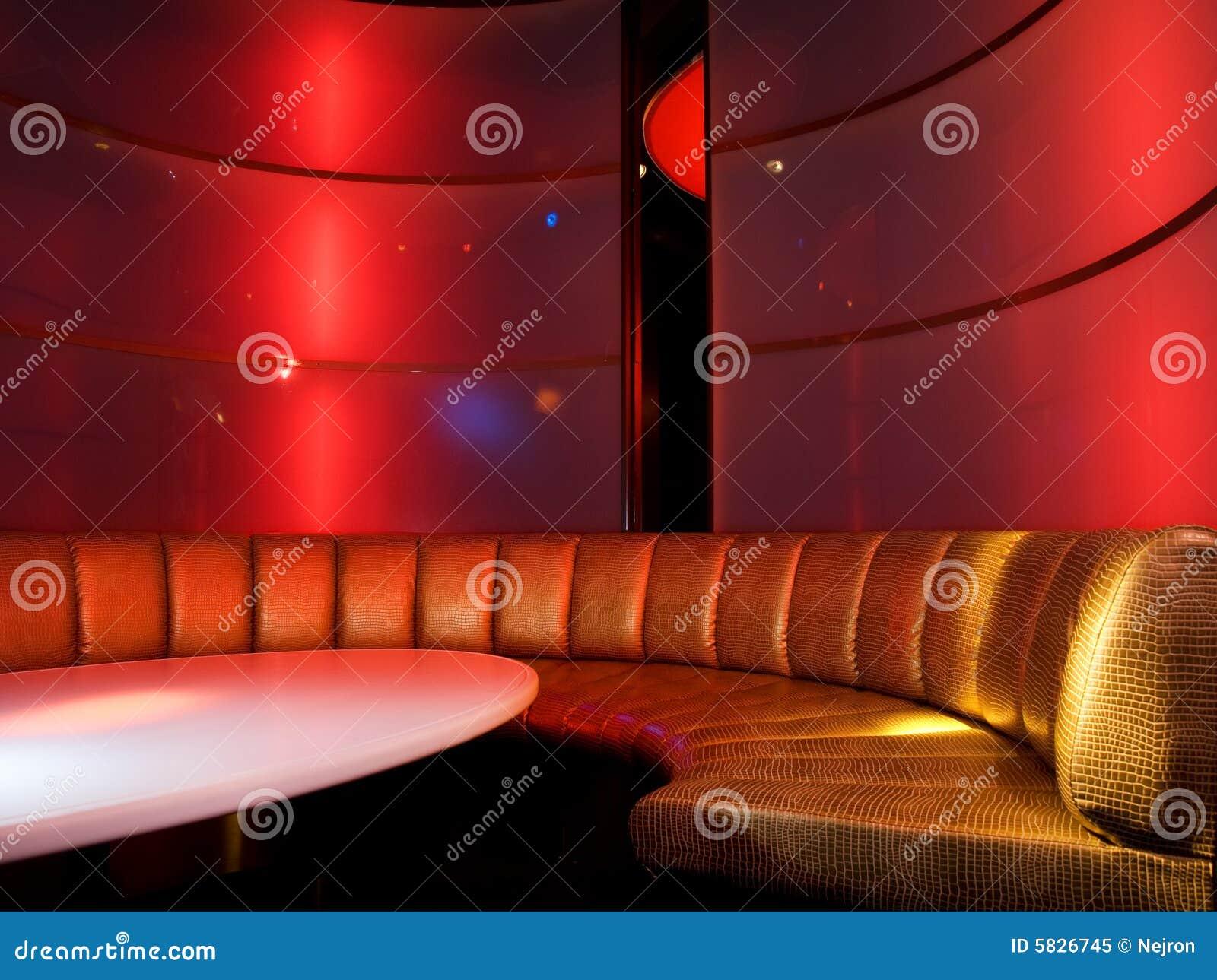 Het binnenland van de nachtclub