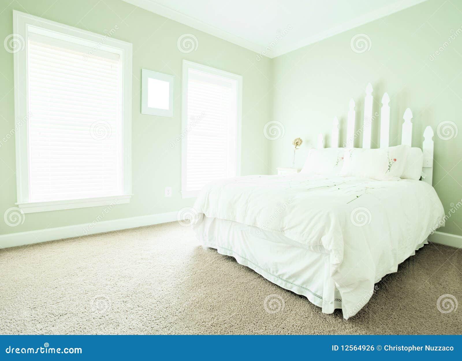 Het binnenland van de slaapkamer van de pastelkleur stock foto afbeelding 12564926 - Foto van volwassen slaapkamer ...