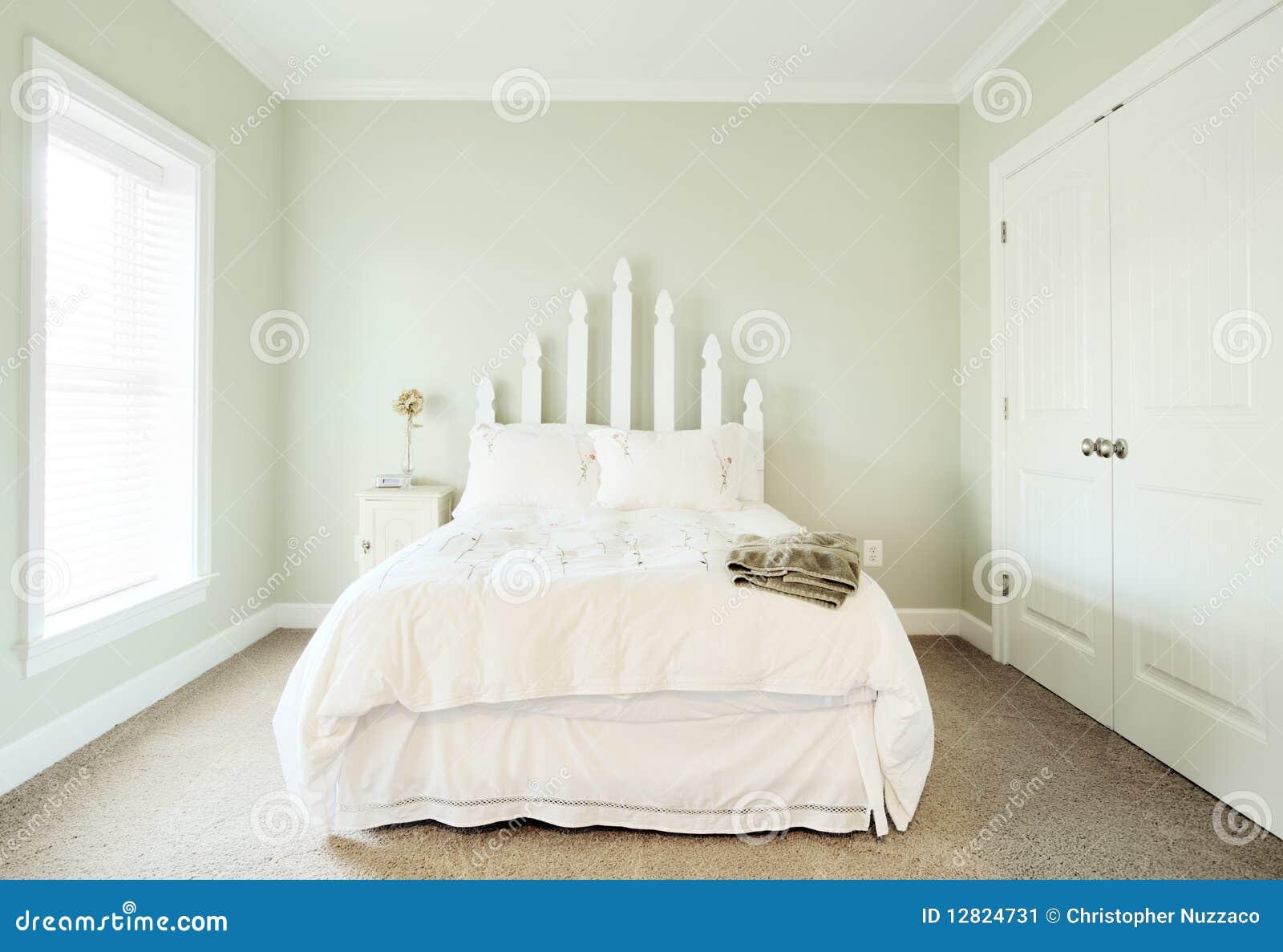 Het binnenland van de slaapkamer van de pastelkleur stock afbeelding afbeelding 12824731 - Model van de slaapkamer ...