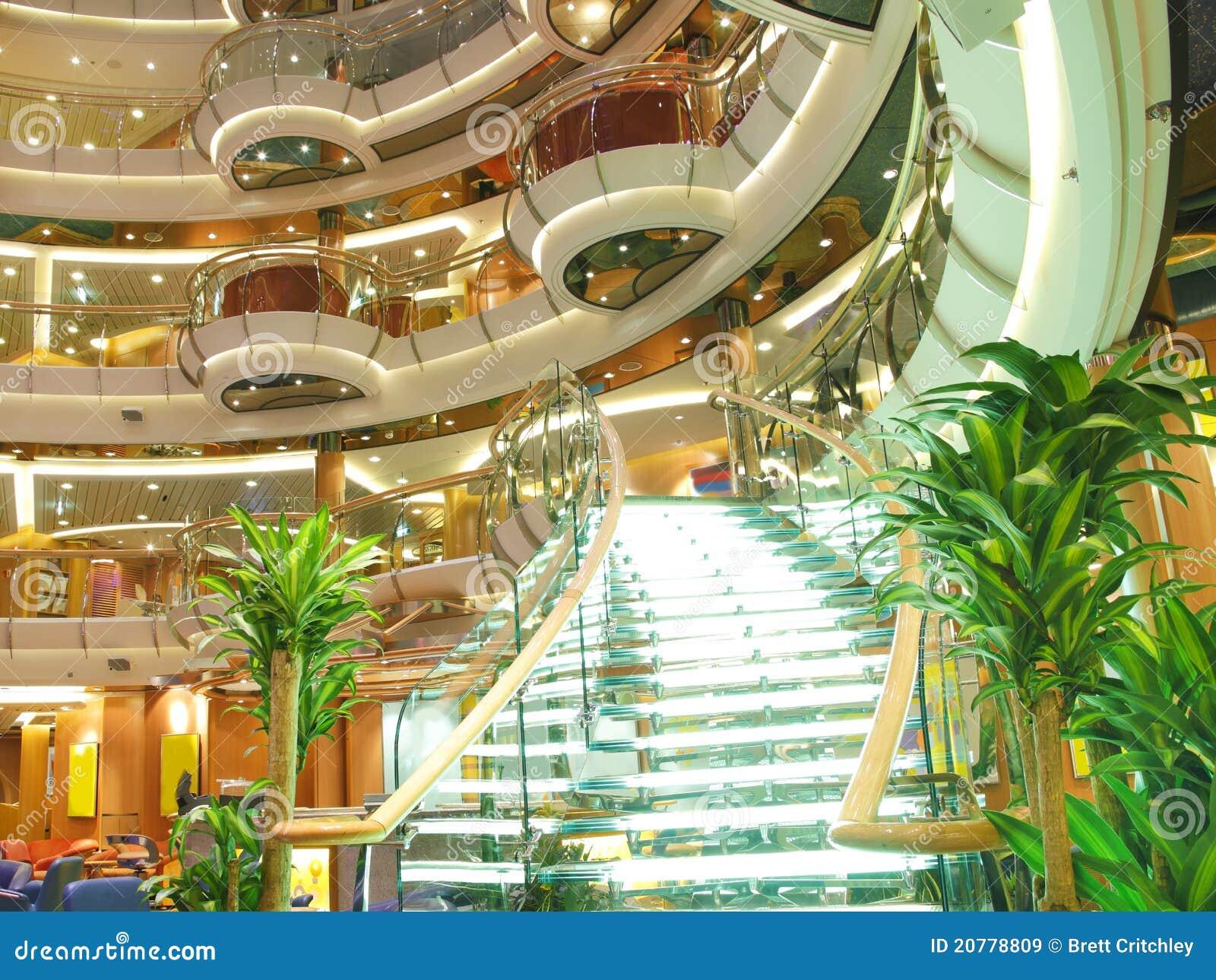 Het Binnenland Van Het De Cruiseschip Van De Luxe Stock