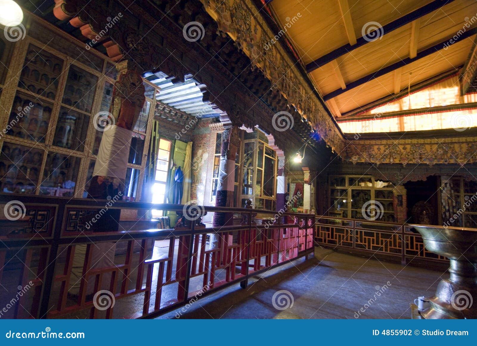 Het binnenland van het Paleis van Potala
