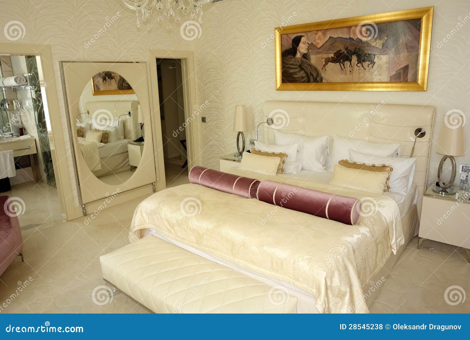 Het binnenland van slaapkamers met beeld.