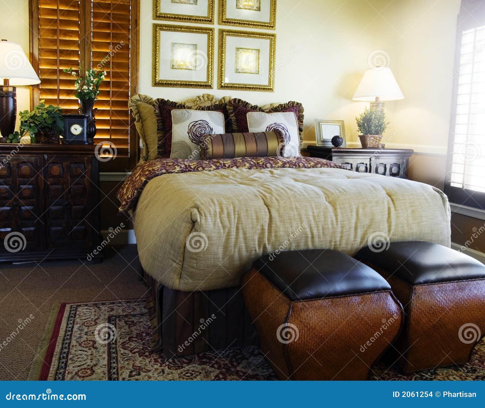Het binnenlandse ontwerp van de slaapkamer stock afbeeldingen ...