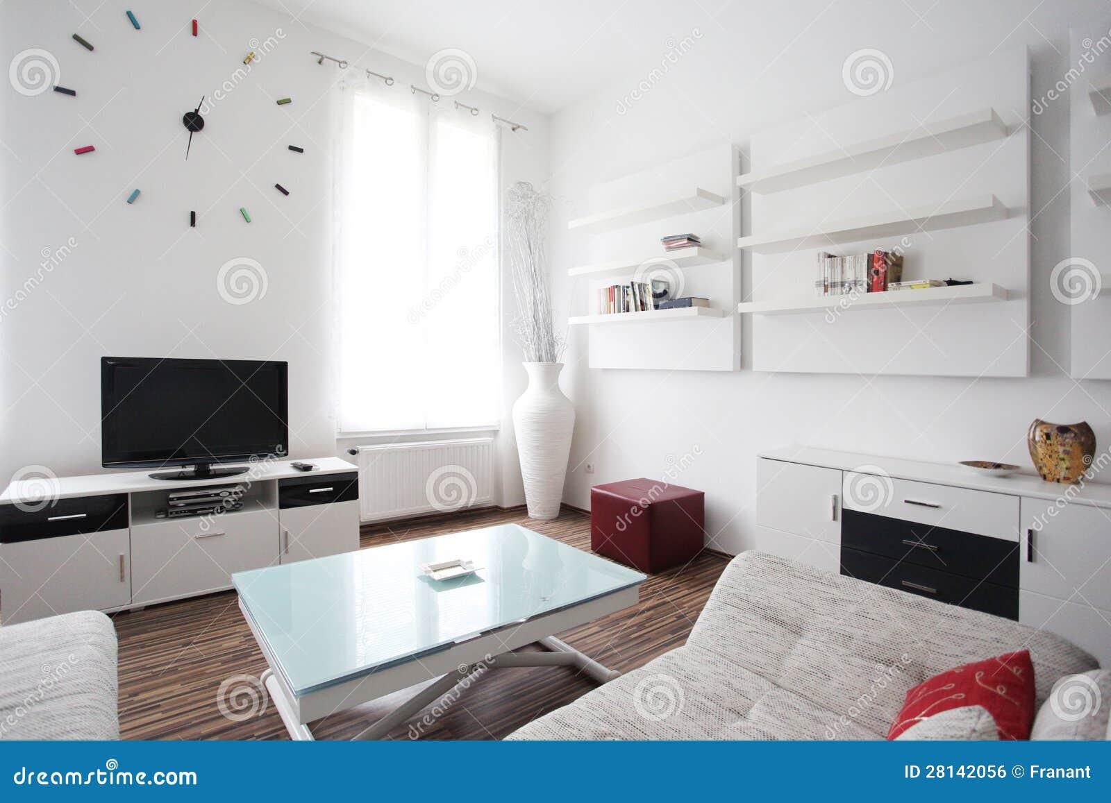 Het binnenlandse ontwerp van de woonkamer stock foto afbeelding 28142056 - Fotos van moderne woonkamer ...