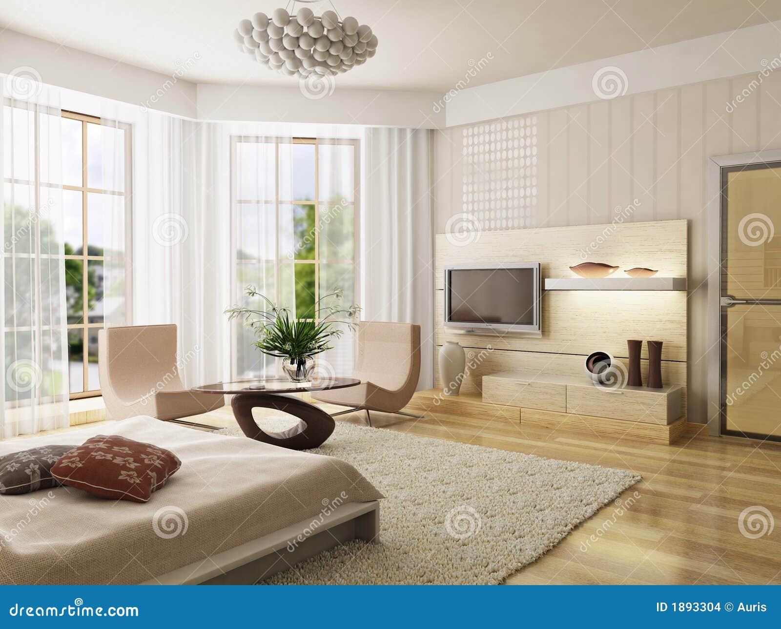 Stock Afbeeldingen: Het binnenlandse teruggeven van de slaapkamer