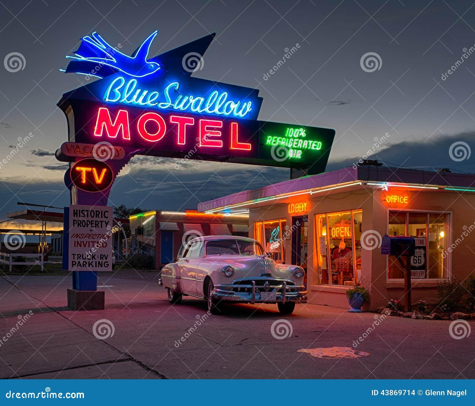 Het blauw slikt Motel