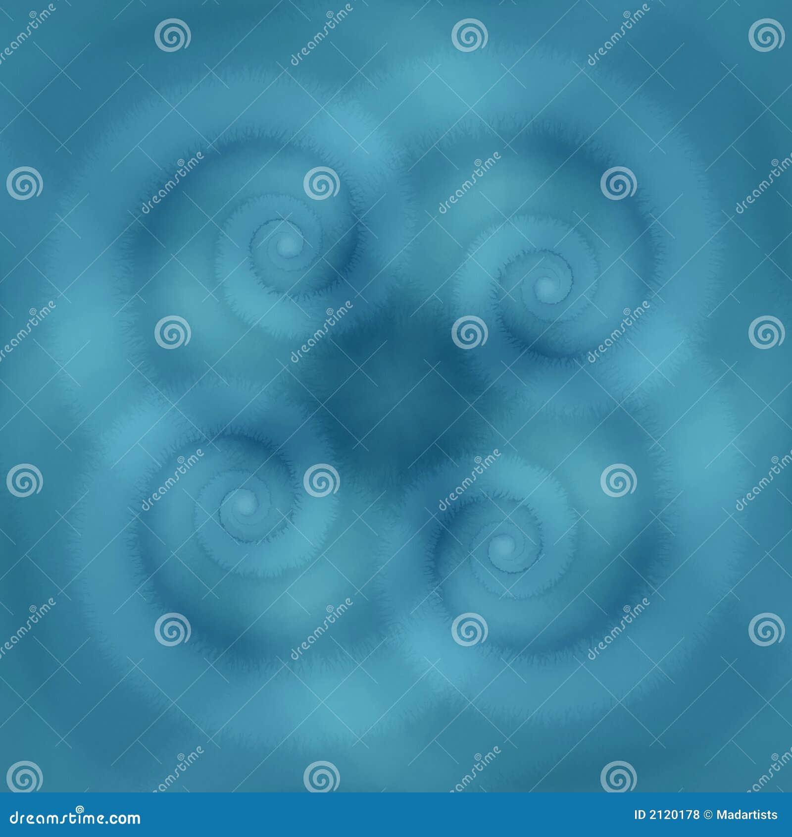 Het blauw wervelt de Textuur van Spiralen