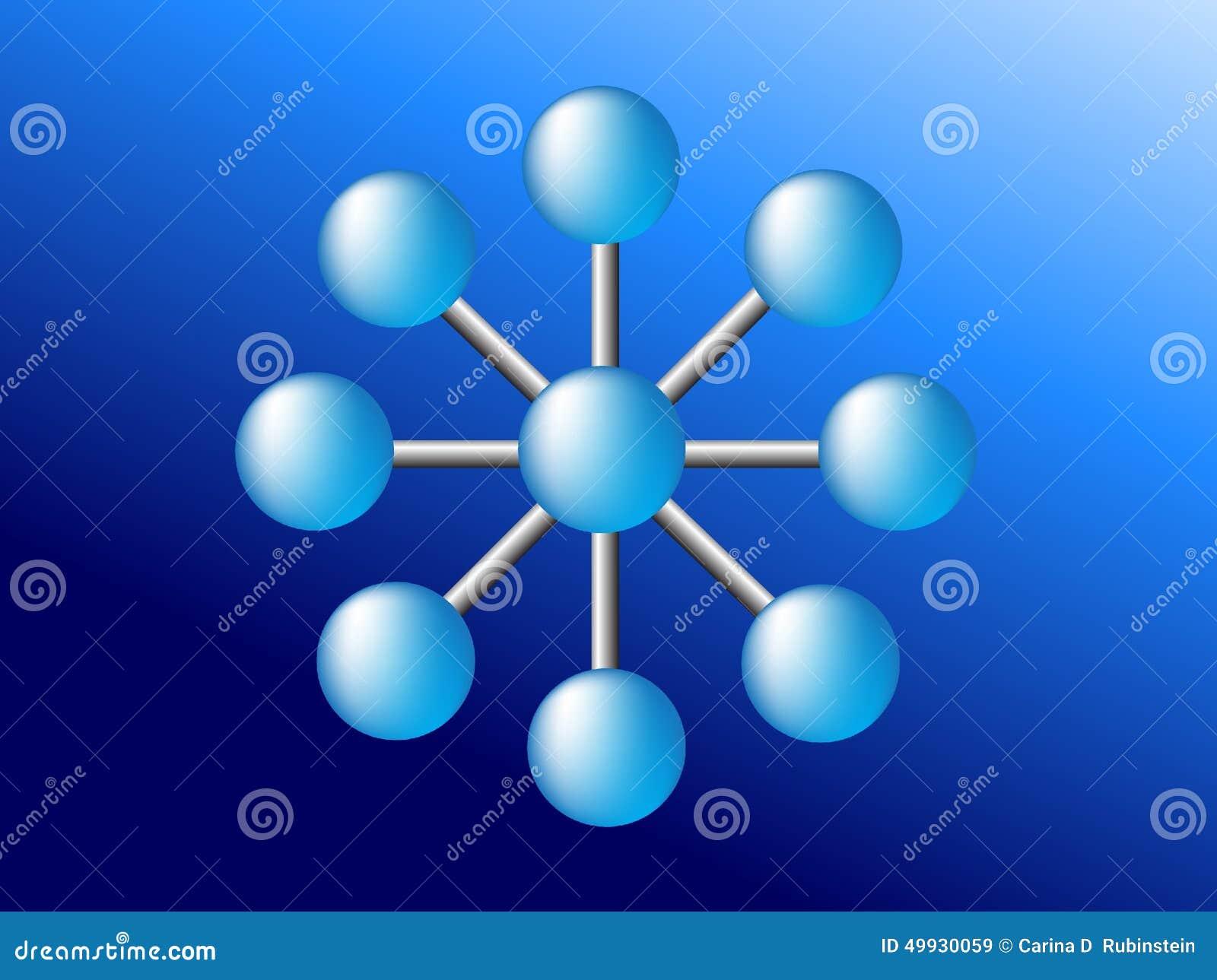 Het blauwe globale Web van de networdverbinding