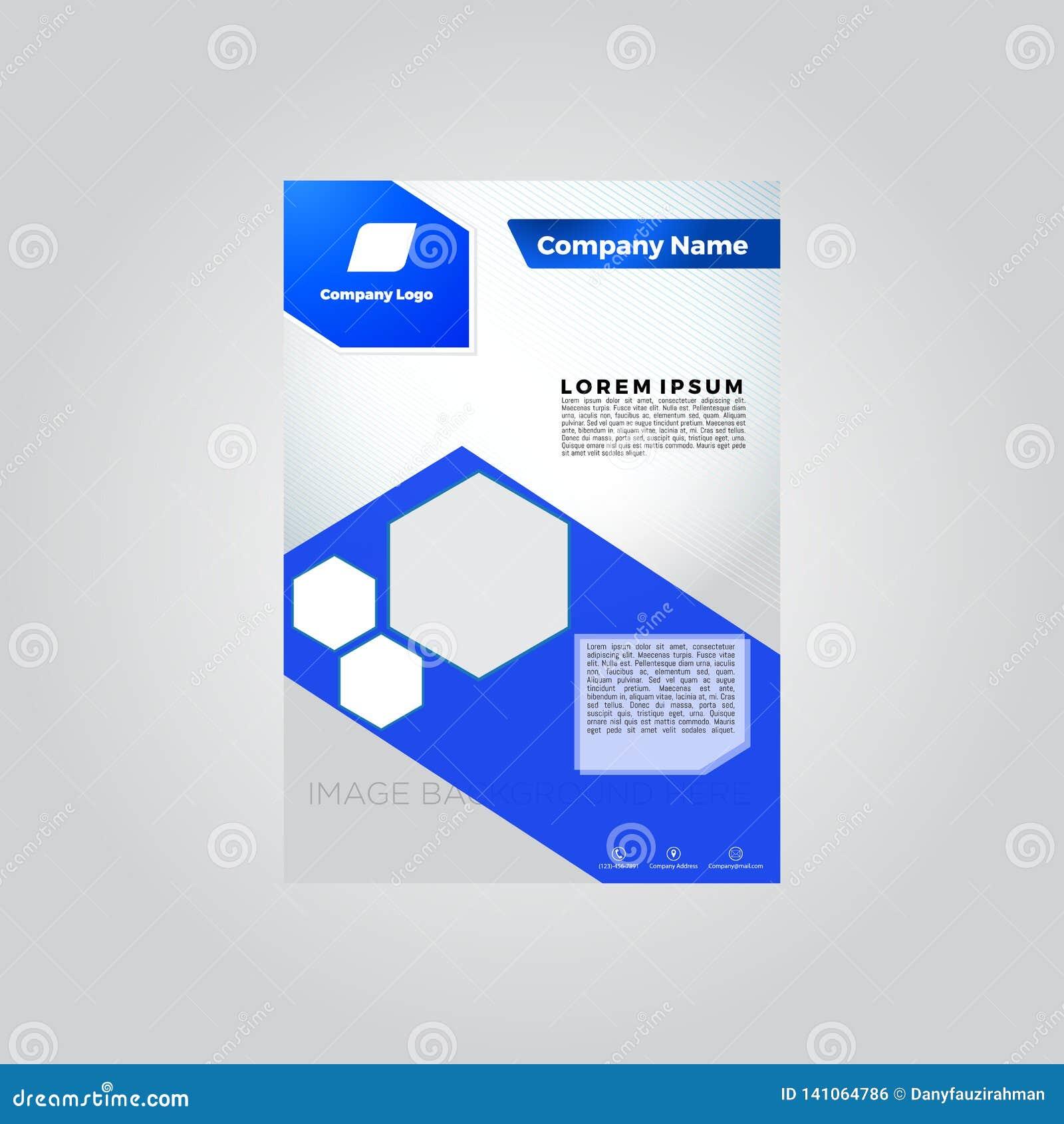 Het blauwe malplaatje van het brochuremalplaatje