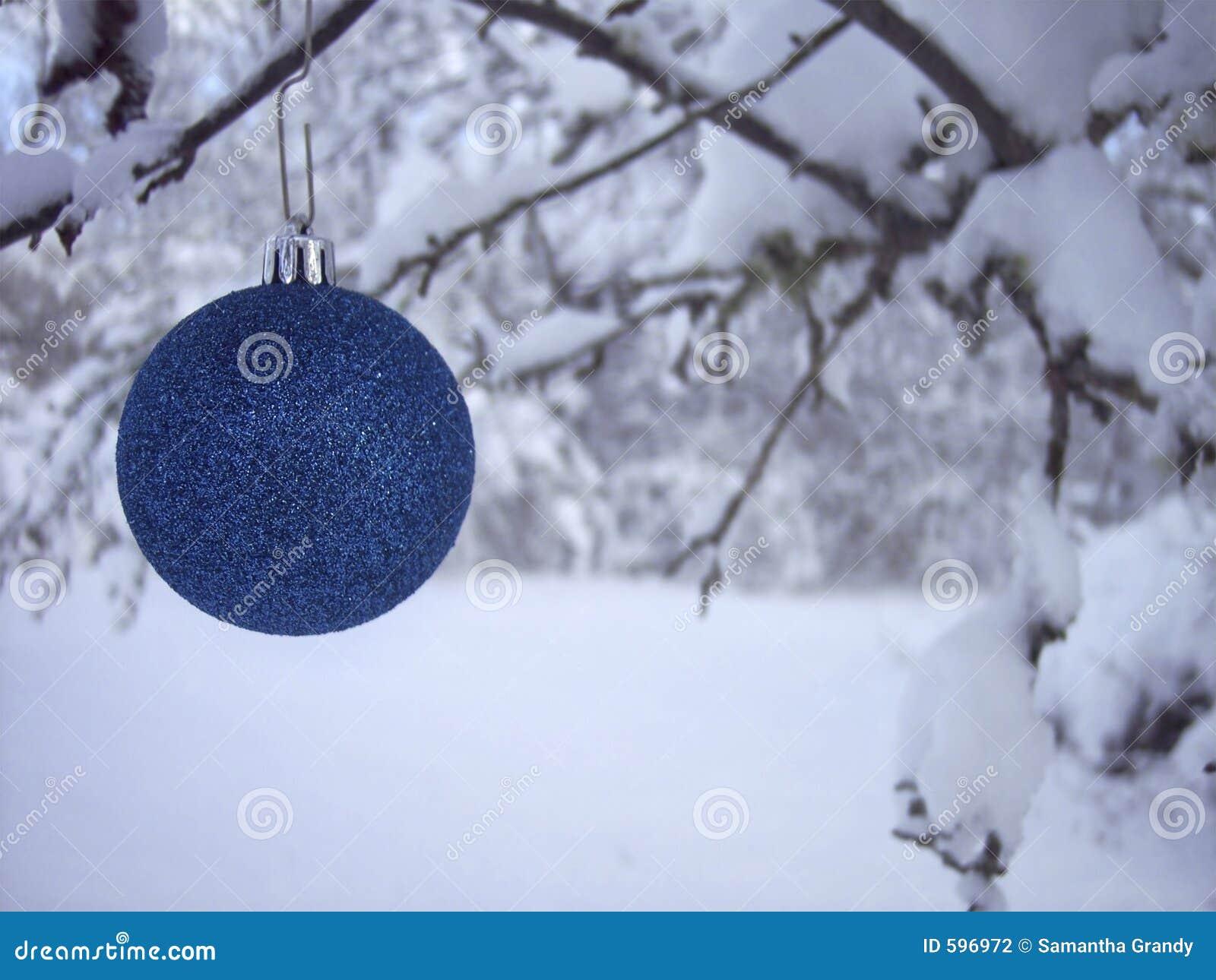 Het blauwe Ornament van Kerstmis